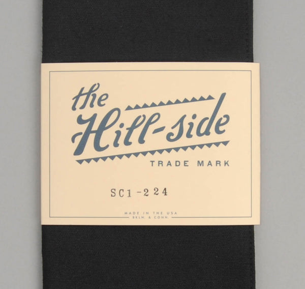The Hill-Side - Overdyed Soft Oxford Large Scarf, Black - SC1-224 - image 2