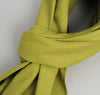 The Hill-Side Overdyed Soft Oxford Large Scarf, Light Olive