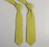 The Hill-Side - Overdyed Soft Oxford Necktie, Light Olive - PT1-225 - image 2