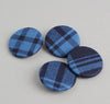 The Hill-Side - PB1-04 - Indigo Check Oxfords Pin-Back Buttons - PB1-X-SS15-4 - image 2
