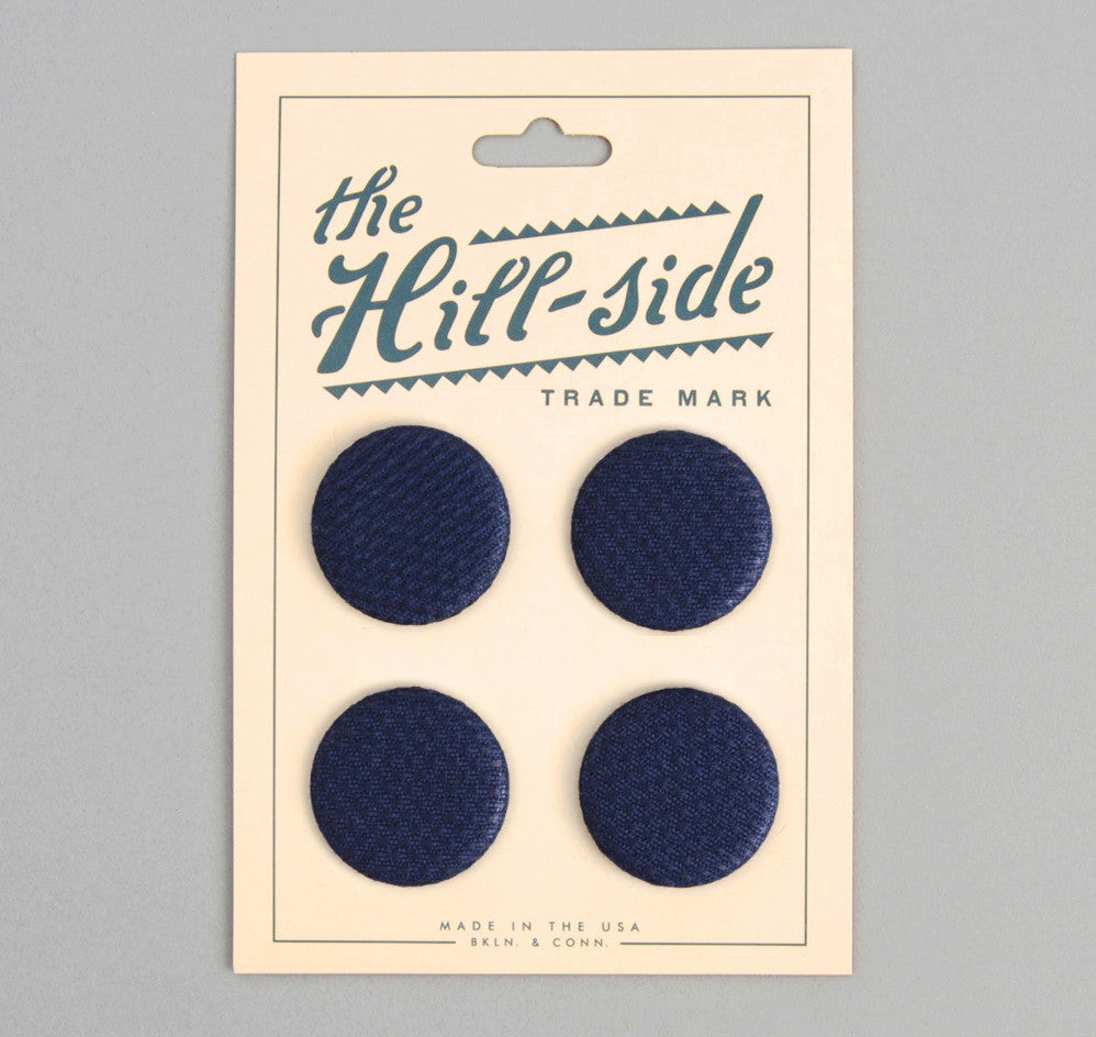 The Hill-Side - PB1-244 - Lightweight Indigo Sashiko Pin-Back Buttons - PB1-X-SS15-2 - image 1