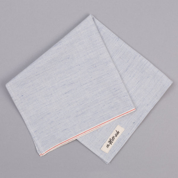 The Hill-Side - Pale Indigo Warp Pocket Square - PS1-322 - image 1