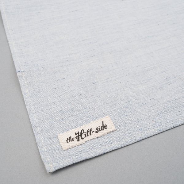 The Hill-Side - Pale Indigo Warp Pocket Square - PS1-322 - image 2