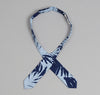 The Hill-Side - Palm Leaves Half-Discharge Print Bow Tie, Indigo - BTS-096 - image 3