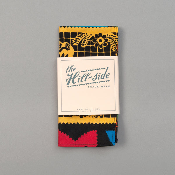 "The Hill-Side - ""Papel Picado"" Print Pocket Square, Black & Multicolor - PS1-477 - image 2"