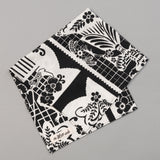 "The Hill-Side ""Papel Picado"" Print Pocket Square, Black & White"