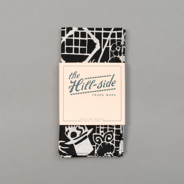 "The Hill-Side - ""Papel Picado"" Print Pocket Square, Black & White - PS1-476 - image 2"