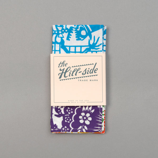 "The Hill-Side - ""Papel Picado"" Print Pocket Square, White & Multicolor - PS1-478 - image 2"