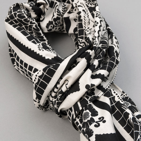 "The Hill-Side - ""Papel Picado"" Print Scarf, Black & White - SC1-476 - image 2"