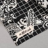 "The Hill-Side - ""Papel Picado"" Print Scarf, Black & White - SC1-476 - image 3"