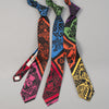 "The Hill-Side - ""Papel Picado"" Print Tie, Black & Multicolor - PT1-477 - image 3"