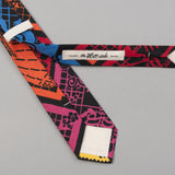 "The Hill-Side - ""Papel Picado"" Print Tie, Black & Multicolor - PT1-477 - image 4"