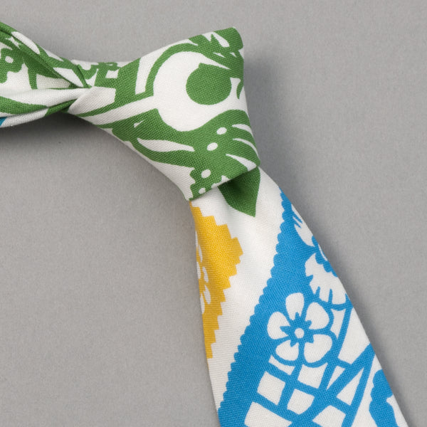"The Hill-Side - ""Papel Picado"" Print Tie, White & Multicolor - PT1-478 - image 1"