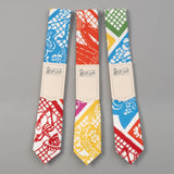 "The Hill-Side - ""Papel Picado"" Print Tie, White & Multicolor - PT1-478 - image 2"