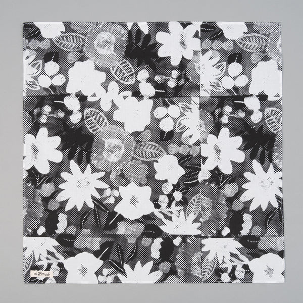 The Hill-Side - Photocopied Halftone Floral Print Bandana - BA1-447 - image 1