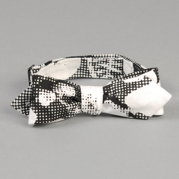 The Hill-Side - Photocopy Halftone Floral Print Bow Tie - BT1-447 - image 1