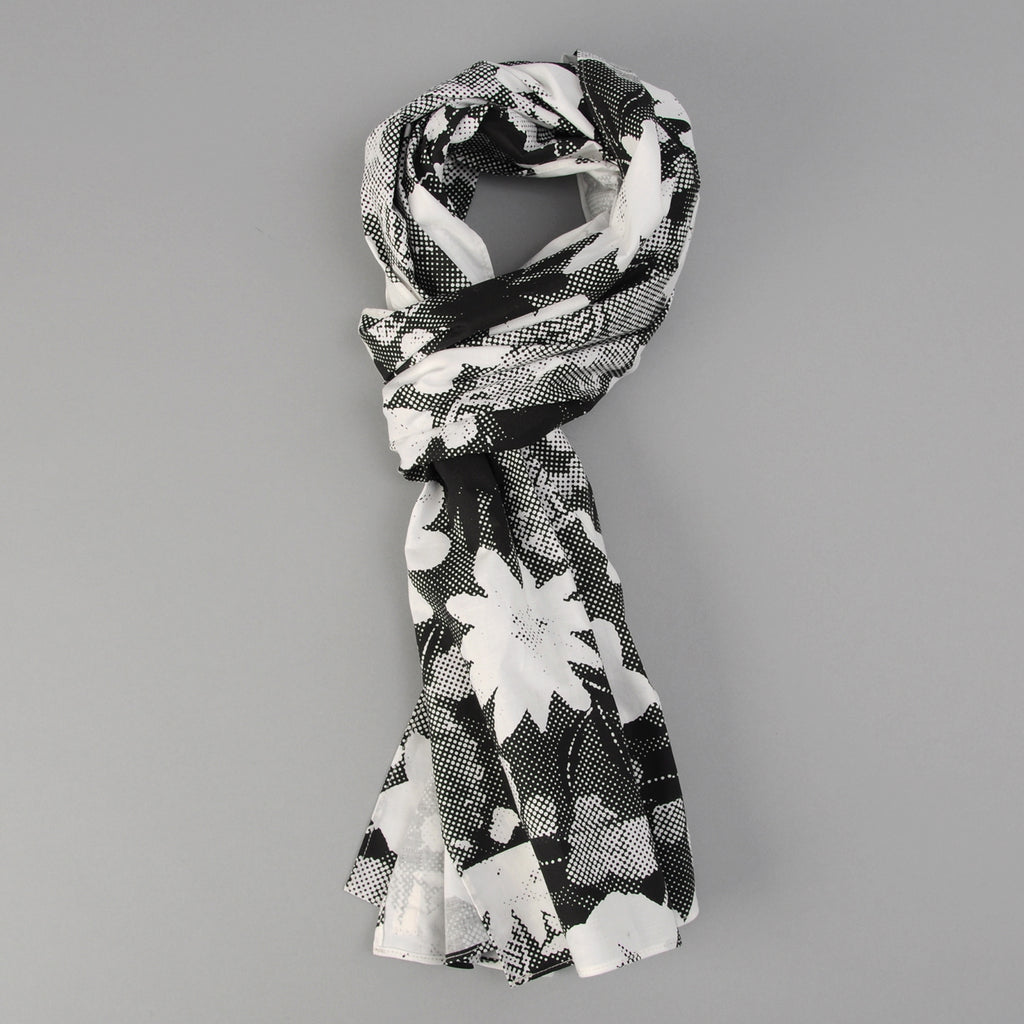 The Hill-Side - Photocopy Halftone Floral Print Scarf - SC1-447T - image 1