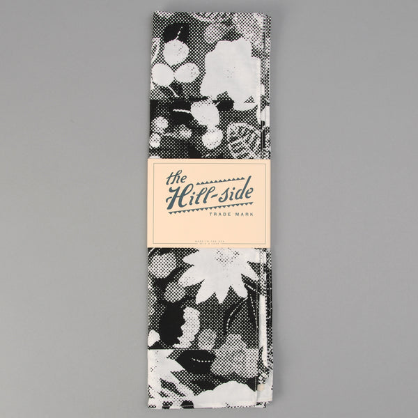The Hill-Side - Photocopy Halftone Floral Print Scarf - SC1-447T - image 2
