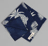 The Hill-Side - Pineapples Discharge Print Bandana, Indigo / White - image 2