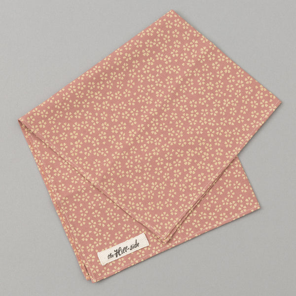The Hill-Side Plum Blossoms Pocket Square, Pink