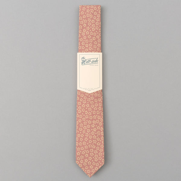 The Hill-Side Plum Blossoms Tie, Pink