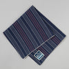 The Hill-Side - Pocket Square, TH-S Mills Navy Warp Antique Japanese Stripe - PS1-365 - image 1