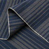 The Hill-Side - Pocket Square, TH-S Mills Navy Warp Waterfall Stripe, Navy & Biege - PS1-364 - image 2