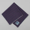 The Hill-Side - Pocket Square, TH-S Mills Navy Warp Windowpane Check, Coral - PS1-369 - image 1