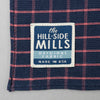 The Hill-Side - Pocket Square, TH-S Mills Navy Warp Windowpane Check, Coral - PS1-369 - image 3