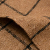 The Hill-Side - Pocket Square, Wool Blend Windowpane Check, Brown & Black - PS1-382 - image 3