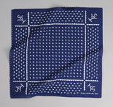 The Hill-Side - Rancher Logo Souvenir Bandana, Navy - SB4-01