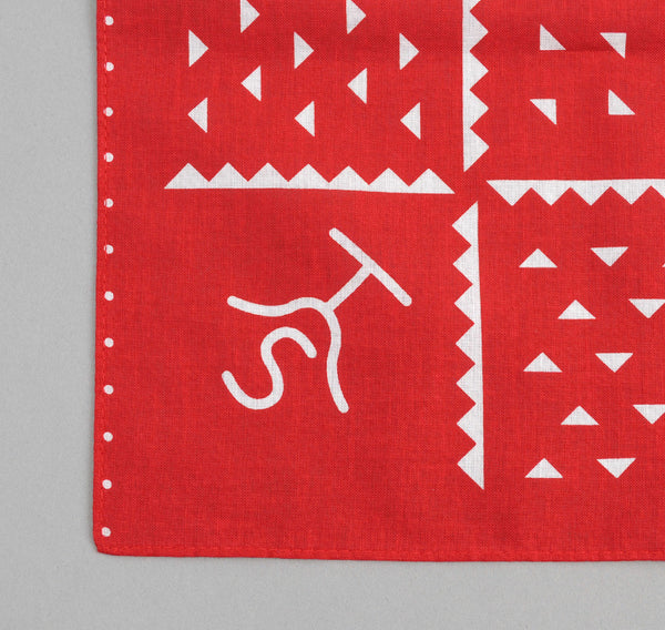 The Hill-Side Rancher Logo Souvenir Bandana, Red