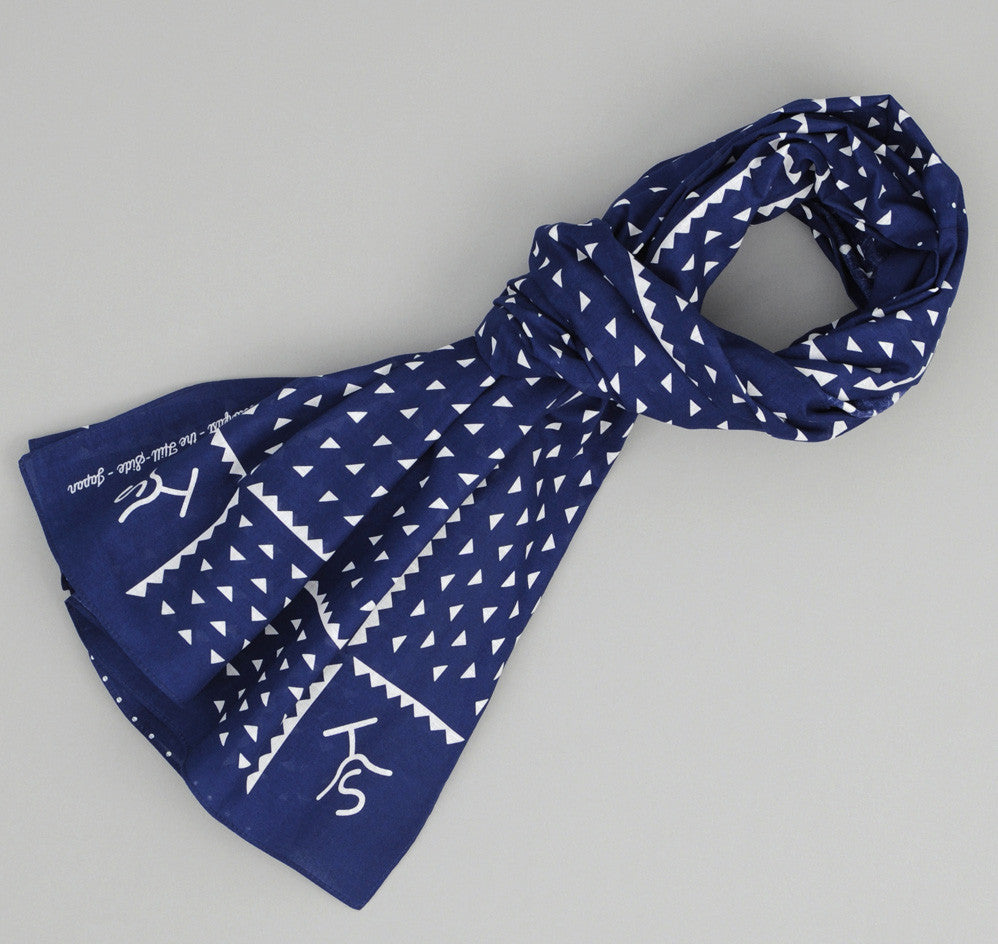 The Hill-Side - Rancher Logo Souvenir Bandana Scarf, Navy - SB2-03 - image 1