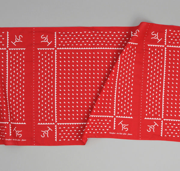 The Hill-Side Rancher Logo Souvenir Bandana Scarf, Red