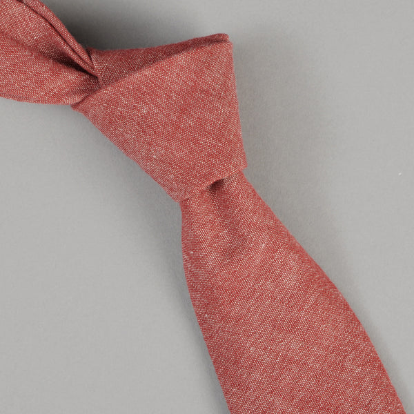 The Hill-Side - Red Chambray Tie - ST1-003 - image 1