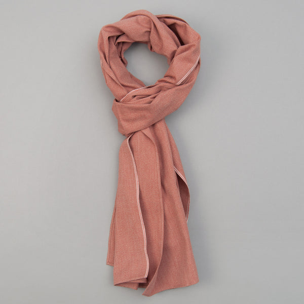 The Hill-Side - Scarf, Selvedge Covert Chambray, Terracotta - SC1-374 - image 1