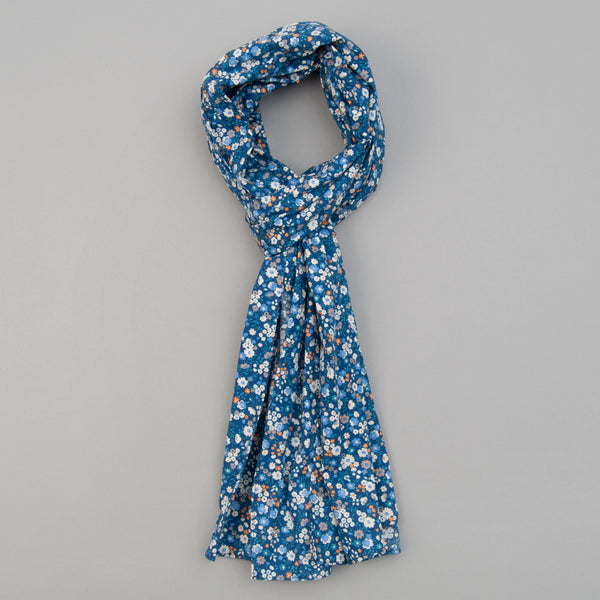 The Hill-Side - Scarf, Small Flowers Print, Blue - SC1-450 - image 1