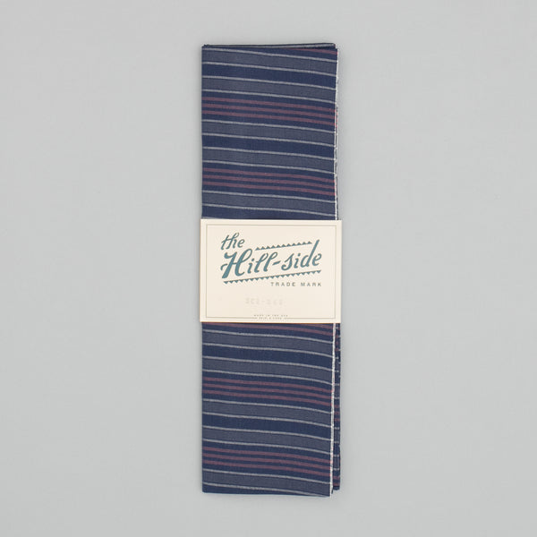 The Hill-Side - Scarf, TH-S Mills Navy Warp Antique Japanese Stripe - SC1-365 - image 2