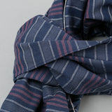The Hill-Side - Scarf, TH-S Mills Navy Warp Antique Japanese Stripe - SC1-365 - image 3