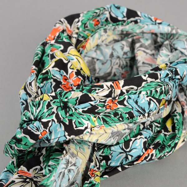 The Hill-Side - Scarf, Toucans & Bananas Print, Black - SC1-457 - image 2