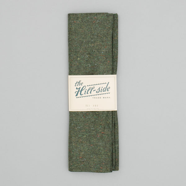 "The Hill-Side - Scarf, Wool Blend ""Galaxy"" Tweed, Olive - SC1-387 - image 2"
