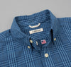 The Hill-Side - Seersucker Check Long Sleeve Standard Shirt, Indigo - SH1-332 - image 1