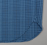 The Hill-Side - Seersucker Check Long Sleeve Standard Shirt, Indigo - SH1-332 - image 2