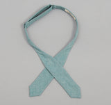 The Hill-Side - Selvedge Chambray Bow Tie, Turquoise - BT1-071 - image 3