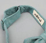 The Hill-Side - Selvedge Chambray Bow Tie, Turquoise - BT1-071 - image 4