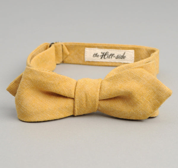 The Hill-Side - Selvedge Chambray Bow Tie, Yellow - BT1-026 - image 1