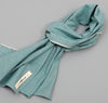 The Hill-Side - Selvedge Chambray Large Scarf, Turquoise - SC1-071 - image 1