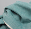 The Hill-Side - Selvedge Chambray Large Scarf, Turquoise - SC1-071 - image 3
