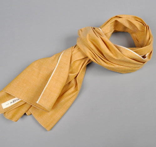 The Hill-Side - Selvedge Chambray Large Scarf, Yellow - SC1-026 - image 1