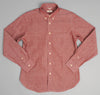 The Hill-Side - Selvedge Chambray Long Sleeve Standard Shirt, Red - SH1-003 - image 2